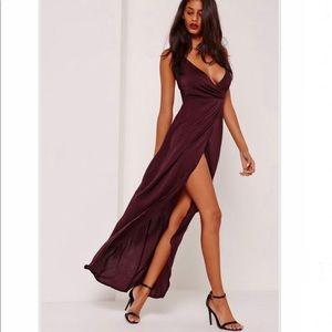 Missguided satin dress.